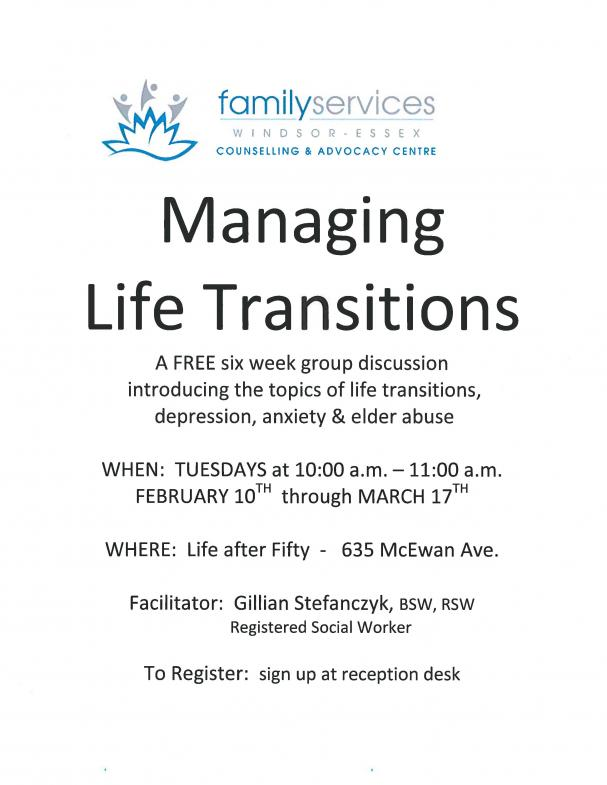 Managing Life Transitions