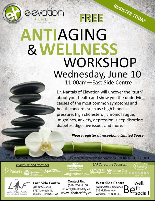 Anti-Aging and Wellness Workshop
