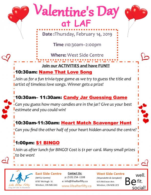 Valentine's Day at the West Side Centre
