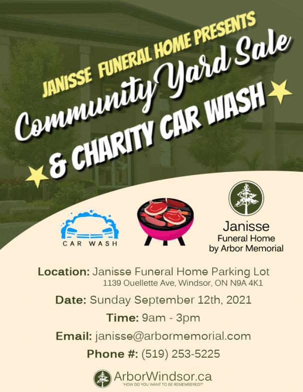 Community Yard Sale + Charity Car Wash