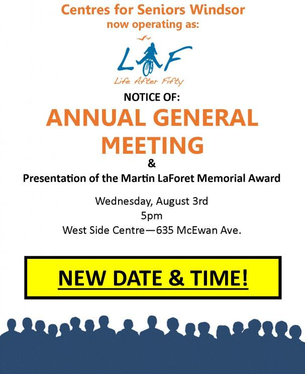 Annual General Meeting 2016: NEW DATE & TIME