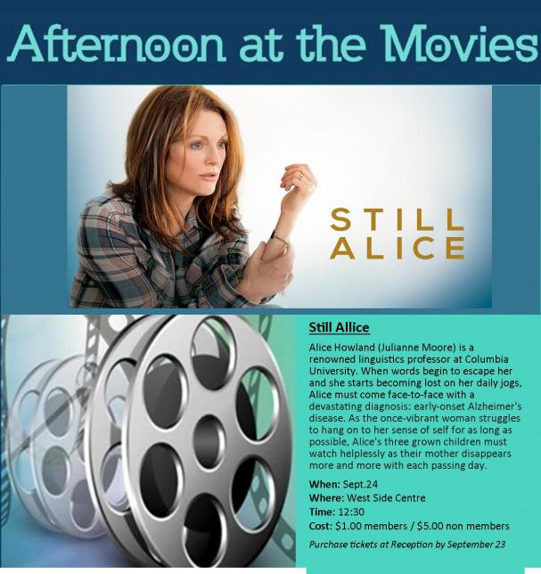 Afternoon at the Movies September 24