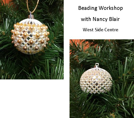 Beading Workshop - Holiday Ornament - West Side Centre