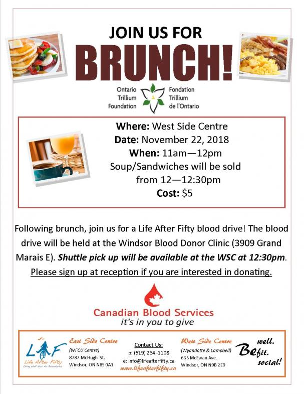 Brunch and Blood Drive