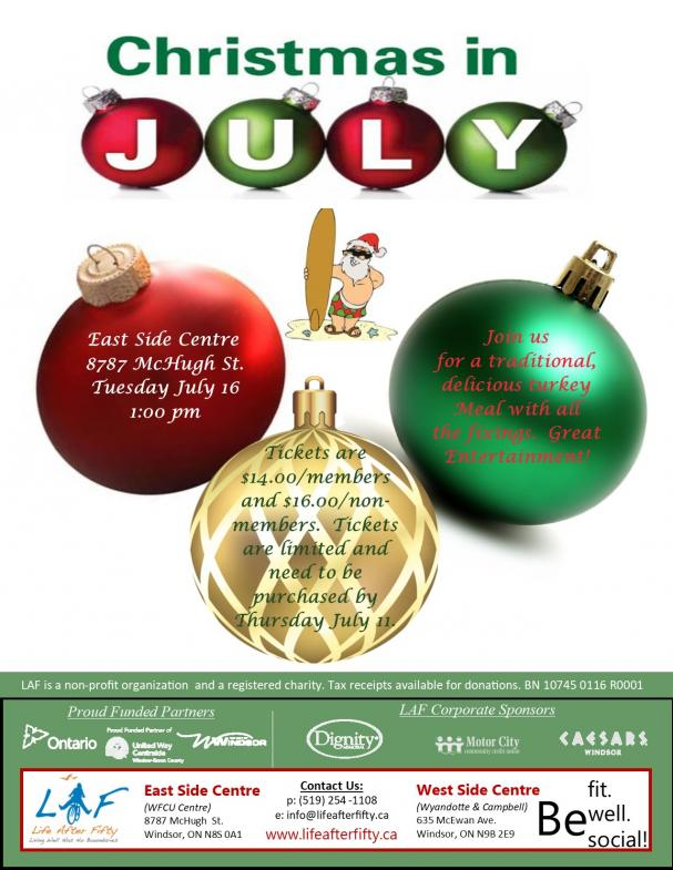 Christmas In July 2019.Life After Fifty Events Christmas In July 2019