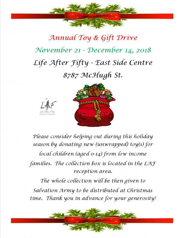 Christmas Toy Drive at the East Side