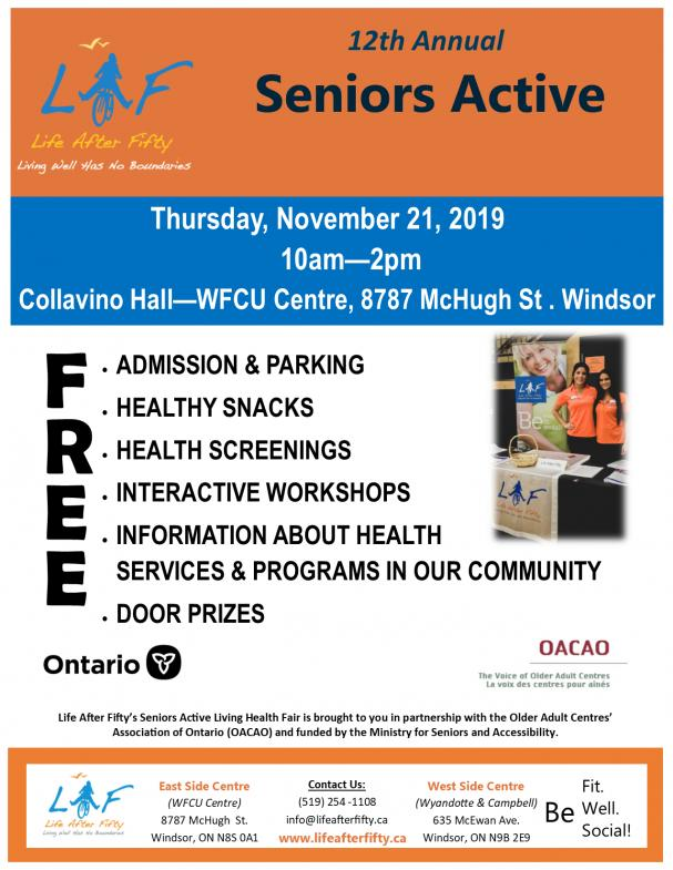 12th Annual Seniors Active Living Fair
