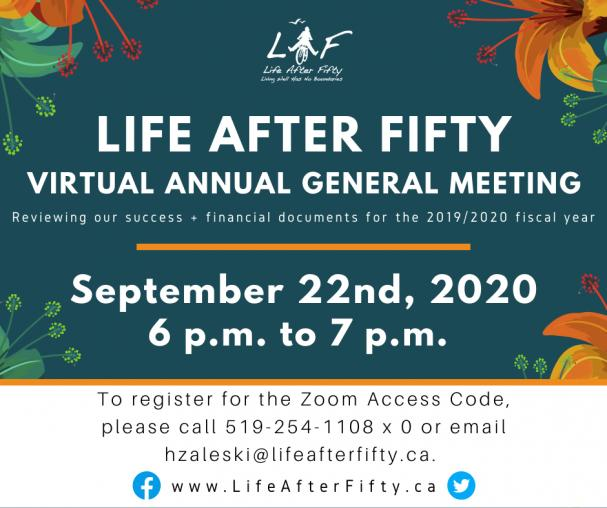 Life After Fifty's Annual General Meeting