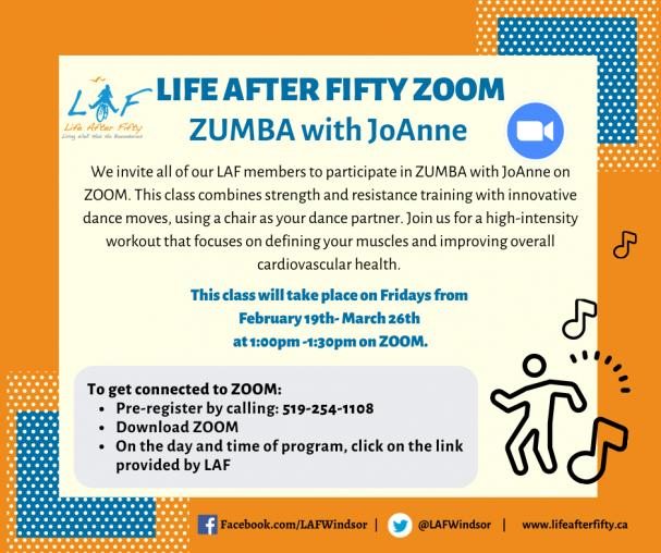 TOMORROW: ZOOM ZUMBA!