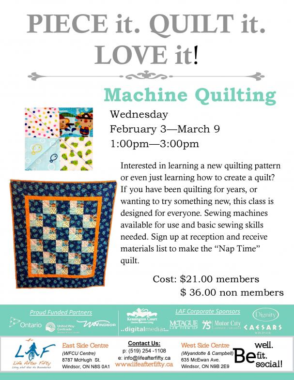 Machine Quilting 2016