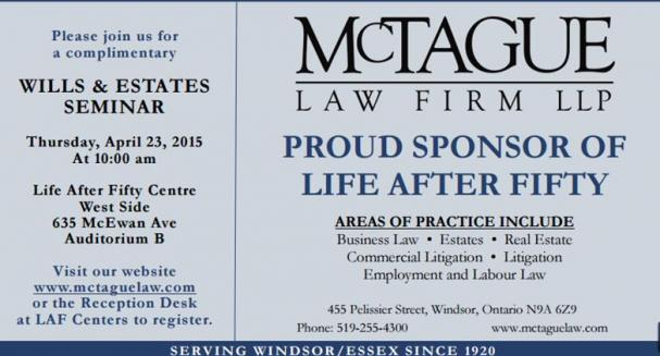 Estate/Will Planning presented by McTague Law Firm