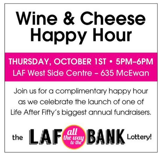 FREE Wine & Cheese Happy Hour