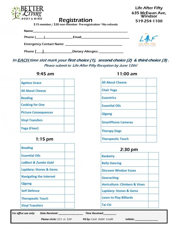 Better Living Day Registration