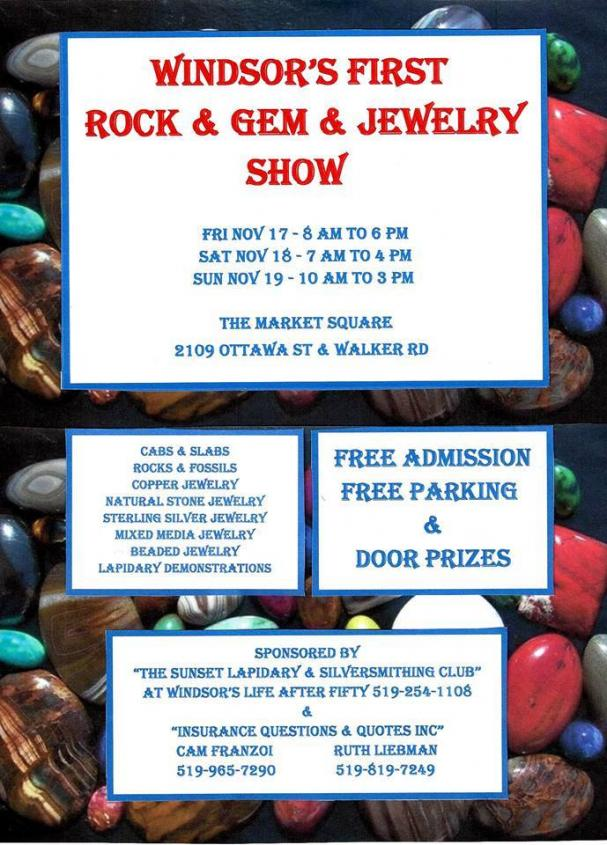 Windsor's First Rock & Gem & Jewelry Show - Ottawa Market