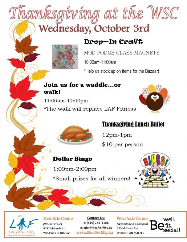Thanksgiving at the WSC
