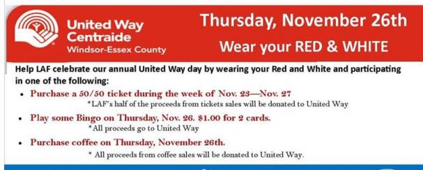 Let's UNITE! for the United Way!
