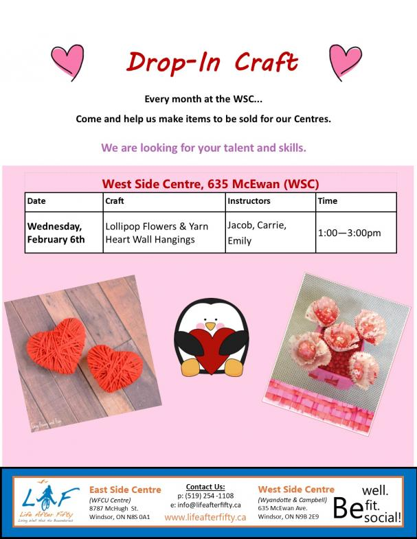 Valentine Craft Drop In