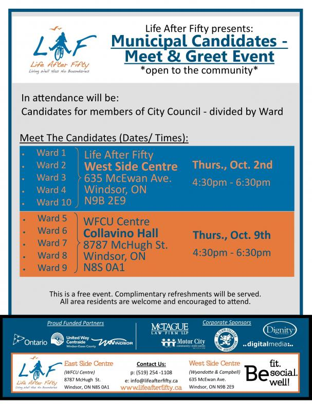 Municipal Candidates - Meet & Greet Events
