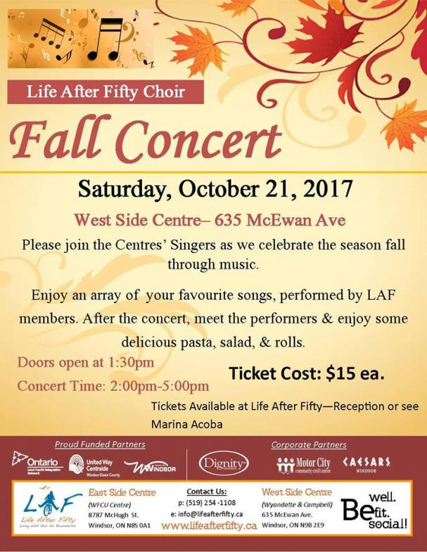Special Event - Choir Concert - West Side Centre