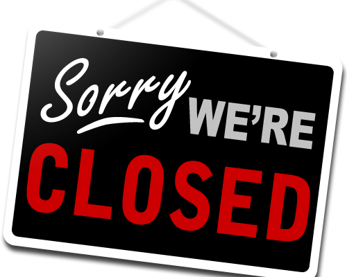 Spring/Summer Closures: (May – August)