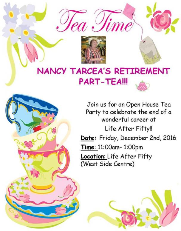Nancy Tarcea's Retirement Part-TEA!!