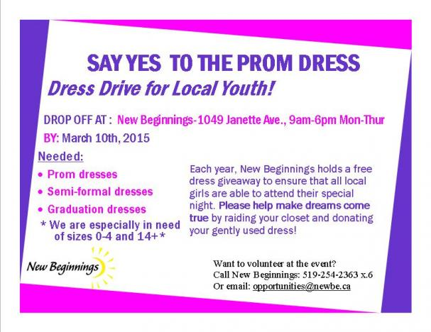 Donate your used dresses