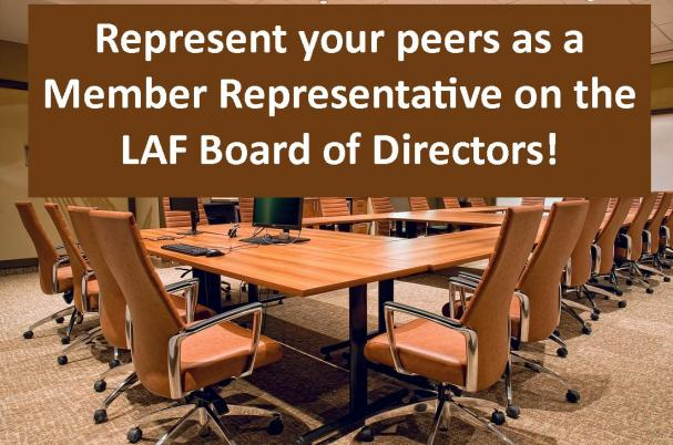 Member Representative on the LAF Board of Directors