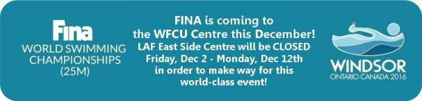 FINA is coming to the WFCU Centre in December
