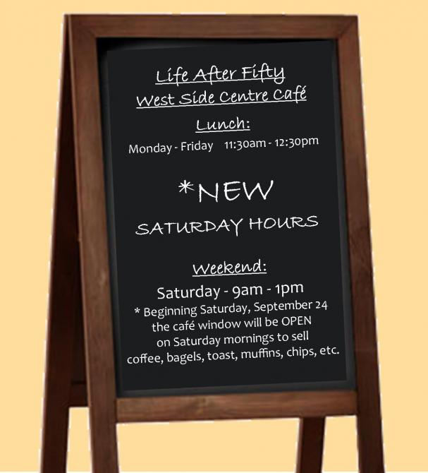 LAF Cafe - Now Open Saturdays!