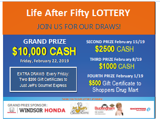LAF Lottery Winners 2019