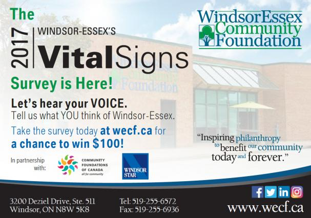 Windsor-Essex's Vital Signs Survey is Here