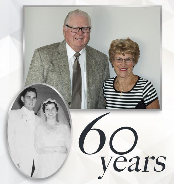 HAPPY 60th ANNIVERSARY Tom and Euleen McCann