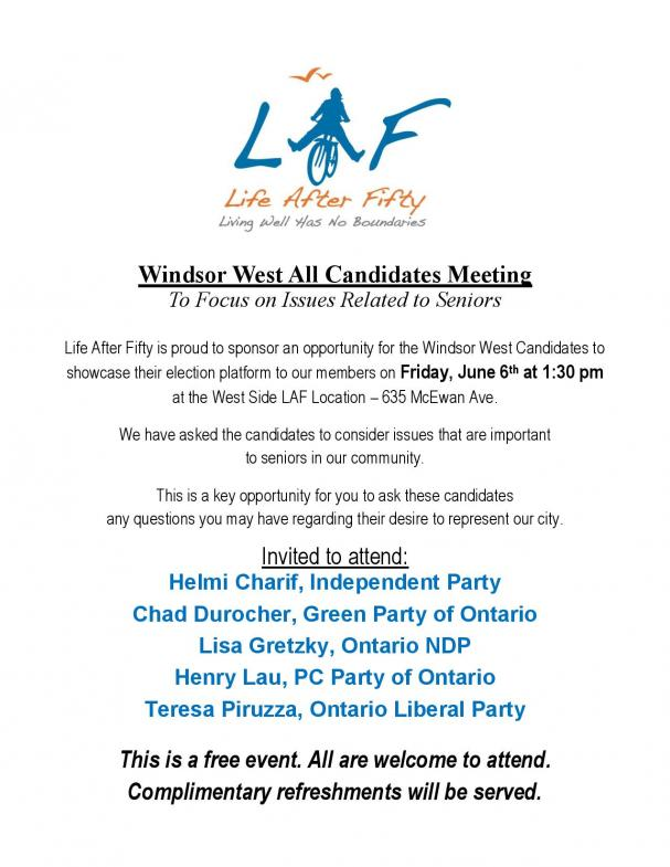 Windsor West All Candidates Meeting