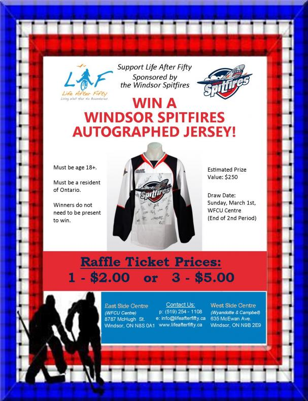 Spitfires Raffle - WIN an Autographed Jersey!