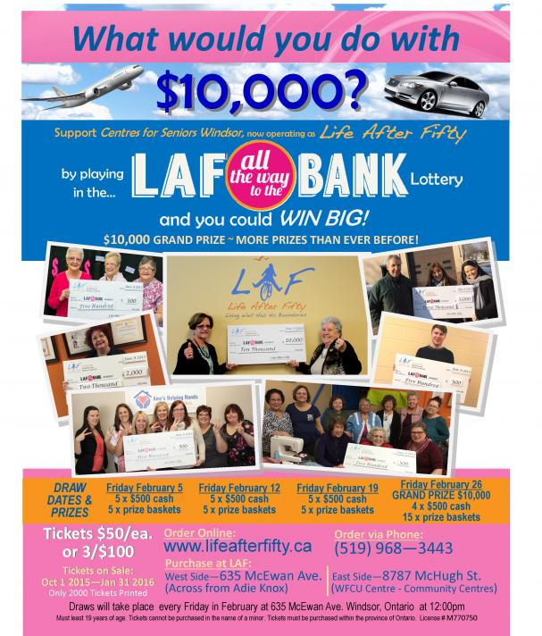 The LAF all the way to the Bank LOTTERY is BACK!