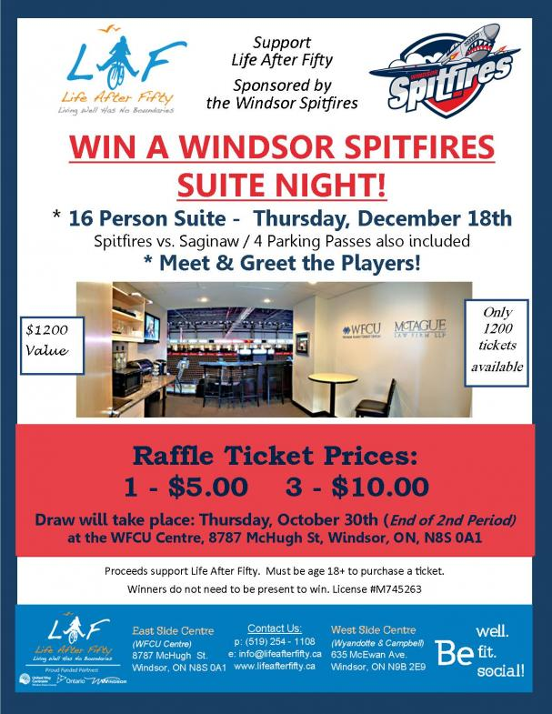 WIN A WINDSOR SPITFIRES SUITE NIGHT!