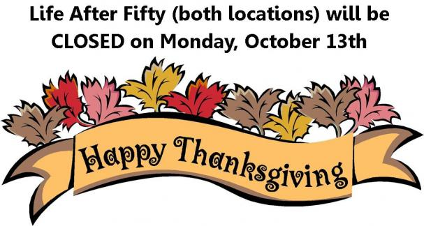CLOSED FOR THANKSGIVING MONDAY