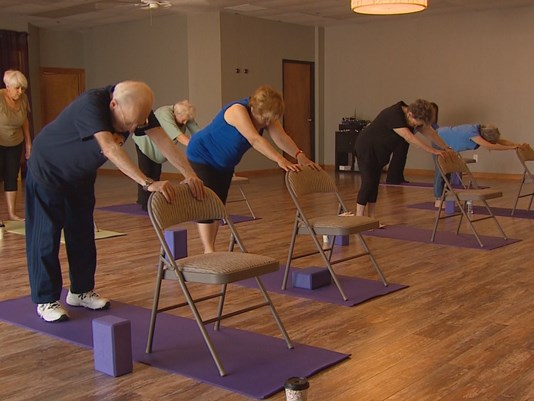 Life after fifty program news for Floor yoga poses for seniors